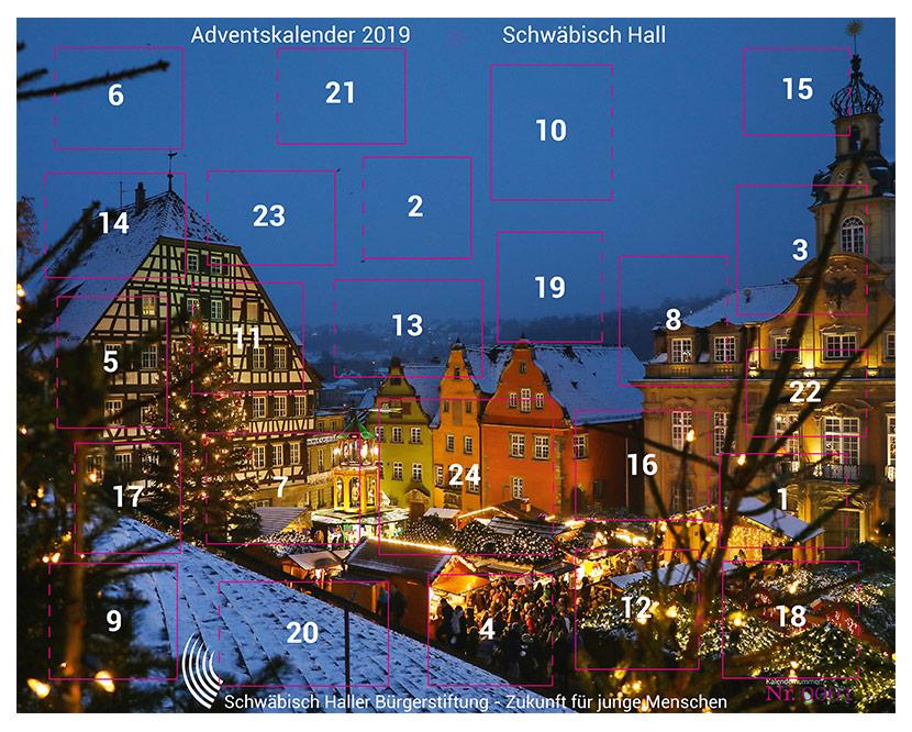 Haller Adventskalender 2019 der Bürgerstiftung Schwäbisch Hall